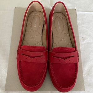 Lands End Red Driving Mocs